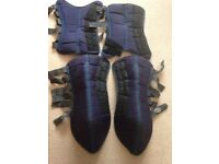Travel boots for Shires pony. Blue.
