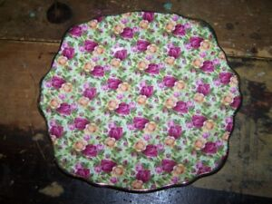 ROYAL ALBERT 1999 Old Country Roses CHINTZ Cake Plate