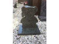 Granite teddy bear memorial