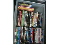 Over 150 various dvds plus cd's and books