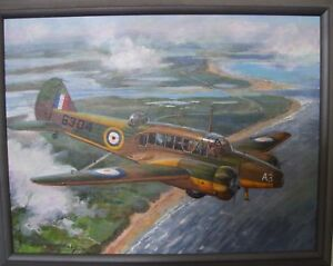 Don Connolly , Original Acrylic on Masonite.Sortie Over Stanhope