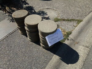 "12"" round concrete stepping stones"