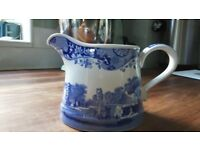 Spode Milk jug, Italian blue, 8cm tall