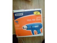 hot air gun blue 2000w including 1 nozzle