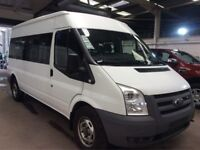 58 plate , ford , transit , 15 seater , long wheel base , only 44k , full ford service history