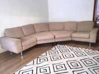 Beige large corner sofa with free delivery within London