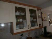 Entire Kitchen - cupboards, worktops, gas hob, washing machine