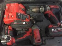 Milwaukee cordless drill and impact driver
