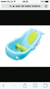 Bain pour bébé baleine