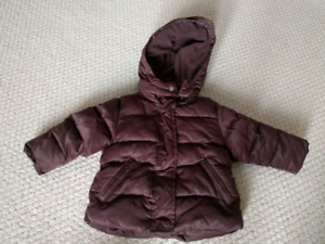Joe Fresh girl's toddler size 1 winter jacket