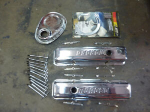Chrome Accessories for Small Block Chevy Engine