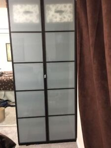 IKEA PAX wardrobe, frosted doors, excellent condition