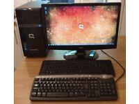 """HP Compaq CQ2815 Win 7 64bit Desktop PC Intel 2.1Ghz 4GB DDR3 500GB + 21.6"""" Full HD LCD + Keyboards"""