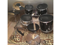 Performance Percussion full size practice drum kit with Mapex snare and all the trimmings