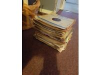 Over 70 vinyl records