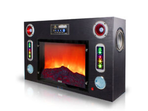 New! Electric Fireplace Bluetooth Entertainment Speaker Center