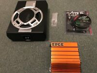 AUNA SPL 600W 10'' Subwoofer, EDGE ED7300 Amplifier and Vibe Slick 8 gauge wiring kit