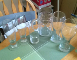 Libbey beer glasses and others