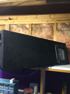 "Custom subwoofer box & 10"" Kicker sub"