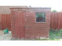 Good waterproof wooden shed (8'x6') needs a new owner