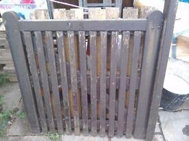 Wooden hard wood gate