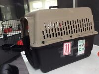 2 medium airline approved pet crates, including BA and VIRGIN plus all accessories.