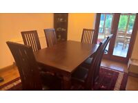 Colonial Style Dining Table, Chairs, Sideboards