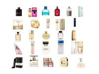 Cheap Perfumes sold in milliliters. 1ml = 0.10p