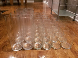 32 Glass Vases in 3 Different Sizes