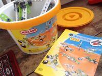 Meccano Construction making toy kit tub