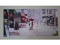 Romantic Parisian Street Painting