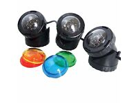 3 LED Pond Lights