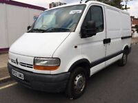 2003 RENAULT MASTER SWB. 2 OWNERS. RECENTLY SERVICED. BRILLIANT DRIVE. NEW MOT. WARRANTY OFFERED