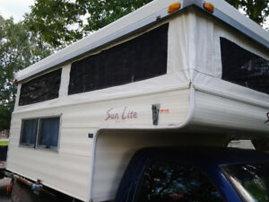 1989 sun lite 8 foot slide in pop up camper