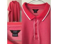 Men's Red Coral Short Sleeve Light Weight Polo Short F&F Range 3xl