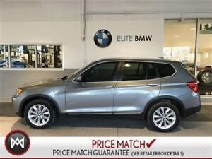 2013 BMW X3 SUNROOF, AWD, LEATHER