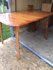 Solid maple wood dining table