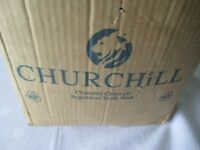Churchill Chateau China in purpose made wooden boxes that are stackable and help with carrying