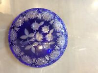 Decorative Blue Crystal plate