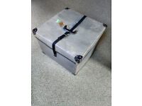 "Large fibre transport & storage box - strong but light - 15"" high x 20"" x 20"" wide"