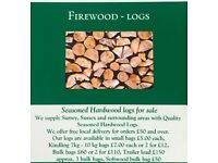 ((Seasoned hardwood logs for sale)) bulk bag£60 or 2 for £110 .07496958726