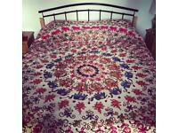 Beautiful Indian Embroidered Throw / Bedspread (x2)