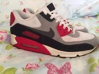 NIKE AIR MAX 90 INFRARED LONDON UNDERGROUND 2012 LTD EDITION TRAINERS SIZE 9UK