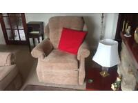 3 seater sofa, electric recliner chair, storage stool