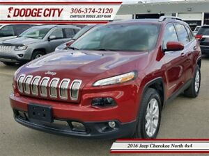 2016 Jeep Cherokee North 4x4 **PST PAID**