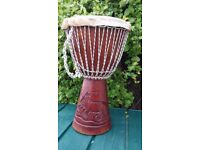 An authentic and high quality Gambian Djembe Drum. Comfortable to play and produces great tones.