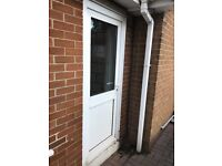 PVC door. 203cm x 83cm. White.