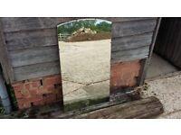 Large Vintage Retro Shaped Wall Mirror
