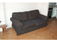 BLACK TWO-SEATER SOFA (IKEA)