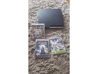 PS3 for sale , 3 games , two controllers